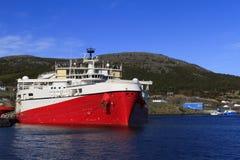 Na morzu ropa i gaz sejsmiczny naczynie obraz royalty free