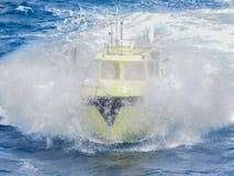 Na morzu ropa i gaz sejsmiczny workboat w zatoce meksykańskiej fotografia royalty free