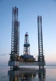 na morzu wieża wiertnicza Obraz Stock
