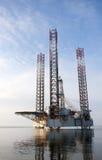 na morzu wieża wiertnicza Fotografia Royalty Free