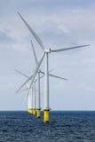Na morzu Windfarm Zdjęcie Royalty Free