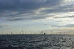 Na morzu windfarm Lillgrund Obraz Stock