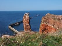 Na morzu wyspa Helgoland zdjęcie stock