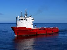 Na morzu Zaopatrzeniowy statek O obrazy royalty free
