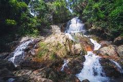 Na Muang瀑布,酸值苏梅岛,泰国 库存照片