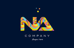 Na n a colorful alphabet letter logo icon template vector Royalty Free Stock Photography