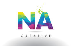 NA N A Colorful Letter Origami Triangles Design Vector. Stock Image