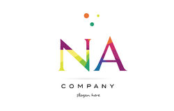 Na n a  creative rainbow colors alphabet letter logo icon Stock Photography