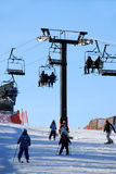 na narty do doliny Fotografia Stock