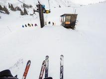 na narty wysokogórski Obrazy Royalty Free