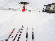 na narty wysokogórski Fotografia Royalty Free