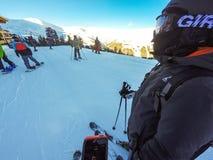 na narty wysokogórski Zdjęcia Stock