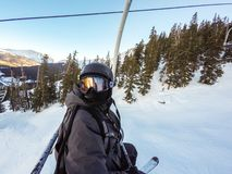 na narty wysokogórski Fotografia Stock