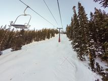na narty wysokogórski Obraz Royalty Free