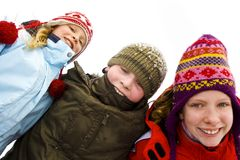 Na śniegu Zdjęcia Royalty Free