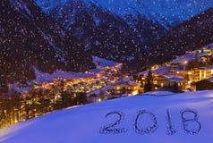 2018 na śniegu przy górami - Solden Austria Zdjęcie Stock