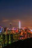 Cena da noite de Shenzhen Imagens de Stock Royalty Free
