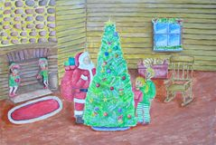 Na Noite de Natal Fotografia de Stock