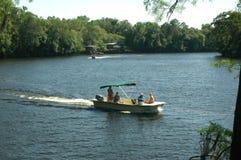 na łodzi 1 rzeki Zdjęcia Royalty Free