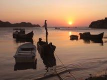 na łodzi Fotografia Royalty Free