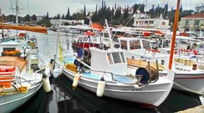 na łodzi Obrazy Royalty Free