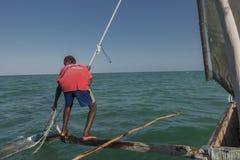 Na łodzi w Zanzibar Zdjęcia Royalty Free