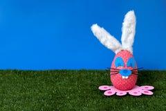 Na ogródzie wielkanocny królik zdjęcie stock