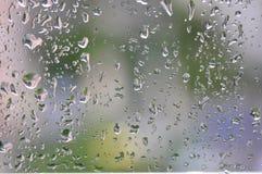 Na okno podeszczowe krople Zdjęcie Royalty Free