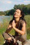 Na oração Foto de Stock