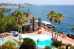 Na otwartym powietrzu restauracja z widok na Atlantyckim Oceanie Obraz Royalty Free