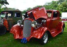 Na otwartym powietrzu wystawa roczników samochody obraz royalty free
