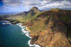 Na Pali海岸线,考艾岛 库存照片