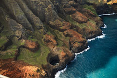 Na Pali海岸线,考艾岛 免版税库存照片