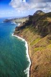 Na Pali海岸线,考艾岛 免版税图库摄影