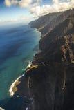 Na Pali海岸线,考艾岛 库存图片