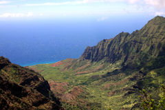Na Pali cliffs on Kauai Royalty Free Stock Images