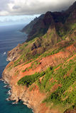 Na Pali Coast. View from the air of the Na Pali Coast in Hawaii Royalty Free Stock Image