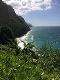 Na Pali Coast Cliffs on Kauai Island, Hawaii - Kalalau Trail. Royalty Free Stock Photos