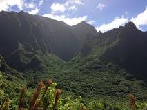 Na Pali Coast Cliffs on Kauai Island, Hawaii - Kalalau Trail. Royalty Free Stock Photo