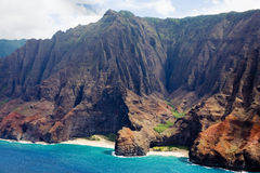 Na Pali Coast in Kauai. Na Pali Mountain Coast in Kauai Stock Photos