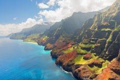 Na Pali Coast on Kauai island in summer. View on Na Pali Coast on Kauai island on Hawaii in a sunny summer day Royalty Free Stock Photos