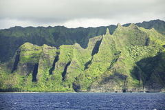 Na Pali Coast Mountains Stock Images