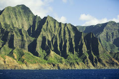 Na Pali Coast Mountains stock photo