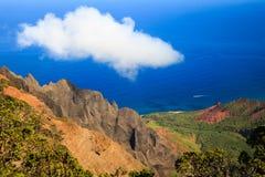 Na Pali Coast Scene. Beautiful Scene at Kalalau Valley on Kauai island, Hawaii Stock Images