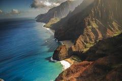 Na Pali Coastline, Kauai. Na Pali Coastline taken from open door Helicopter Royalty Free Stock Image