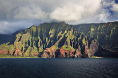 Na Pali Coastline Kauai Royalty Free Stock Photo