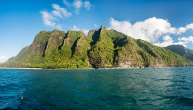 Na Pali coastline taken from sunset cruise along Kauai shore Stock Photo
