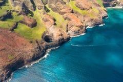 Na Pali costato sull'isola di Kauai Fotografia Stock
