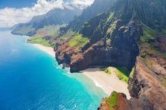Na Pali koszt na Kauai wyspie Obrazy Royalty Free