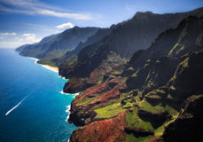 Na Pali linia brzegowa Kauai fotografia royalty free